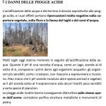 Pagina del libro Pianeta Acqua - Danni piogge acide