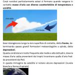 Pagina del libro Pianeta Acqua - Le nuvole fronti e depressioni